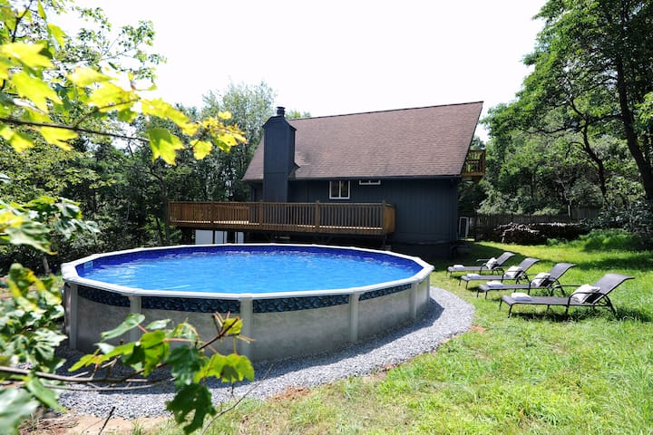 Private pool on the property.