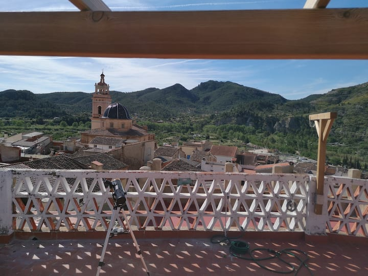 Old Rustic Casa Rural parking/terrace with views