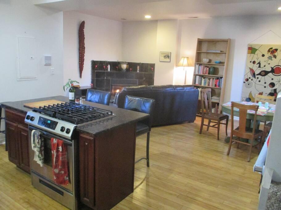 Open plan kitchen, on the ground floor