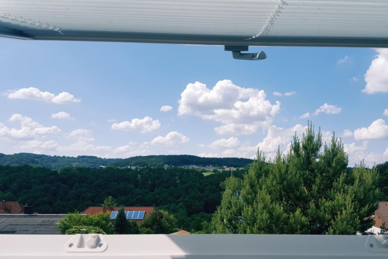 Blick aus dem Dachfenster