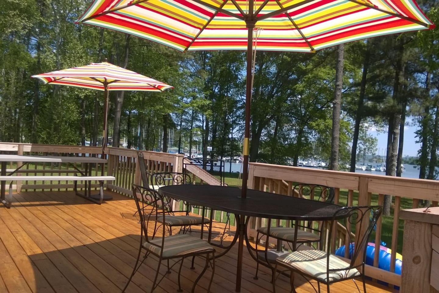 Large deck with a terrific view
