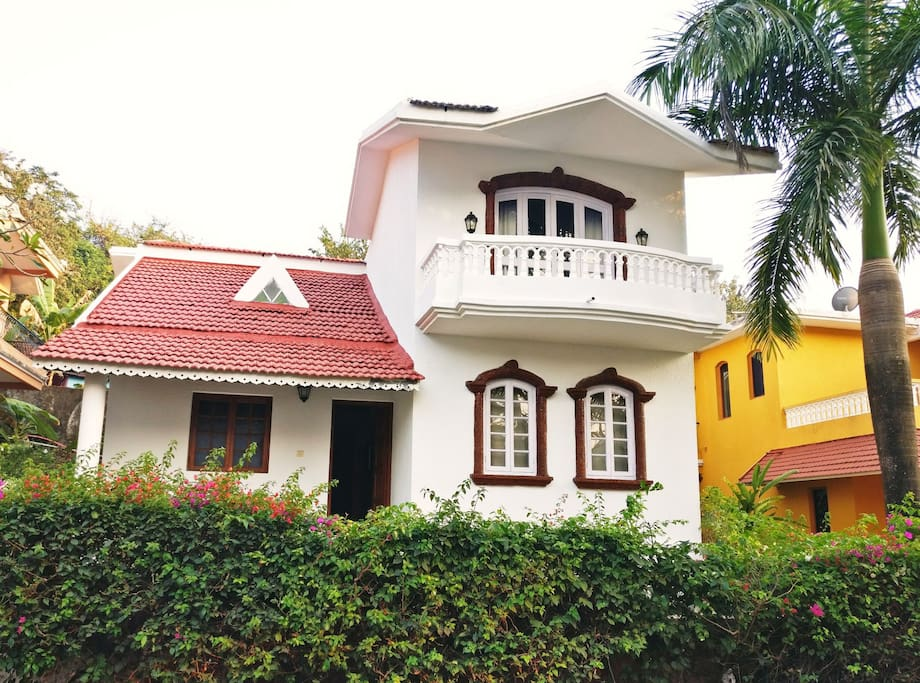 front of Villa from outside
