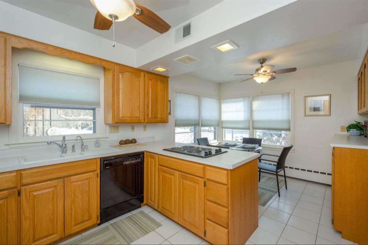 bright and sunny kitchen with dishwasher