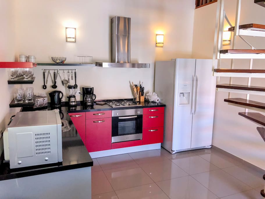 Private and open kitchen