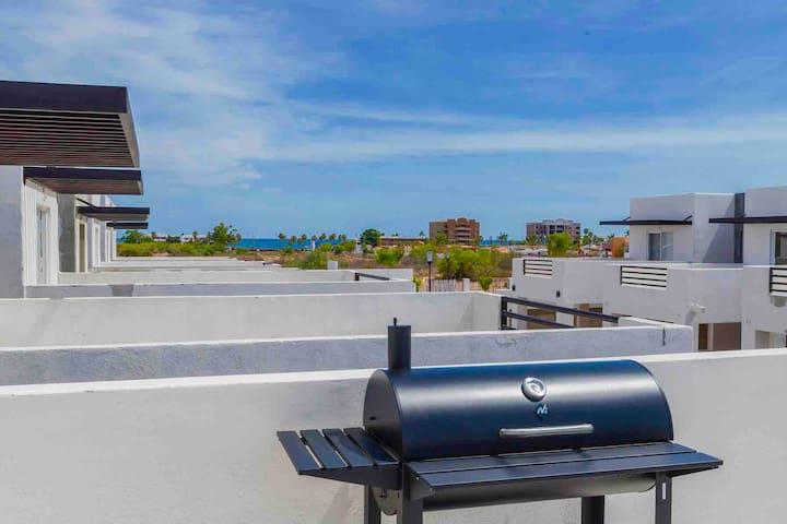 Tetakawi13.Terraza-vista al mar ¡Llegada autónoma!