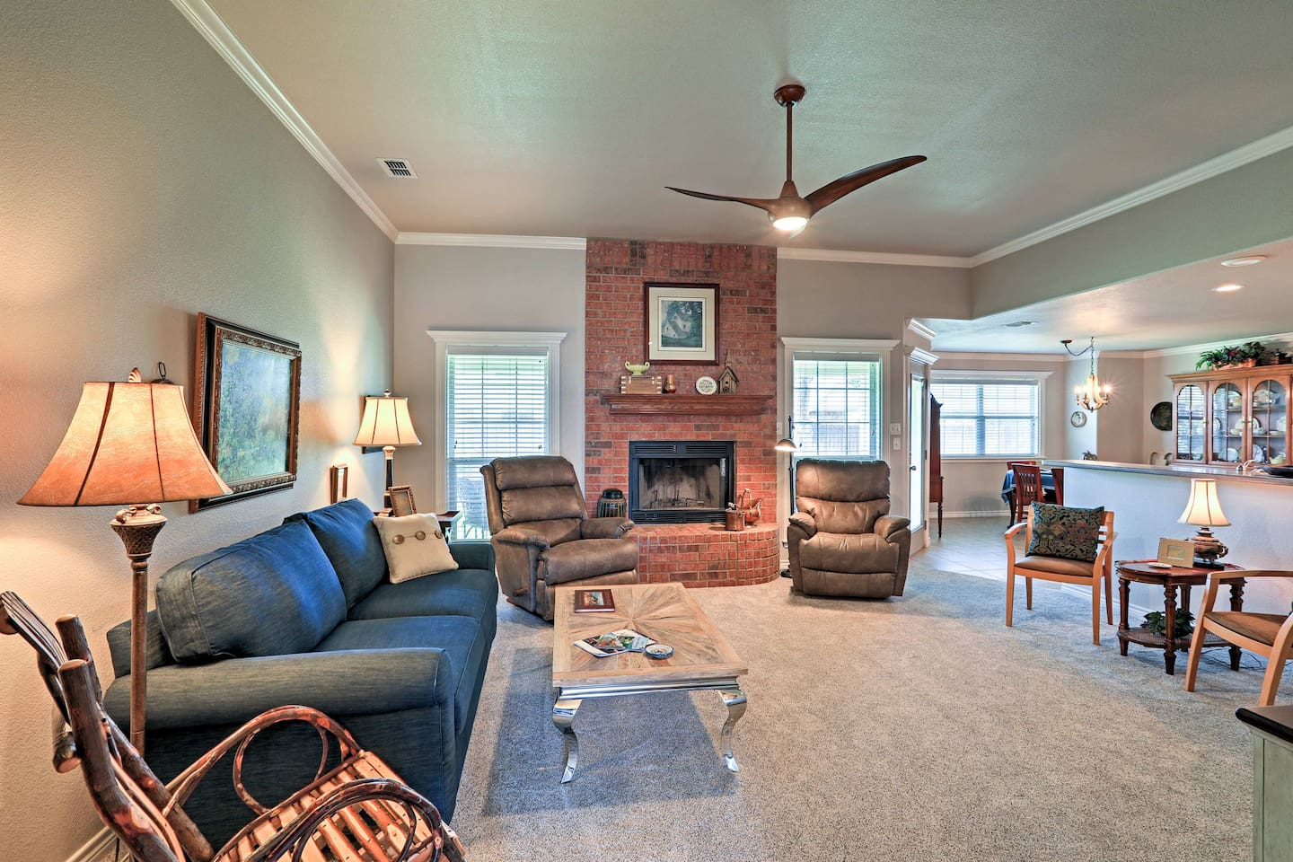 Make yourself at home in this 1,800-square-foot vacation rental house in Abilene