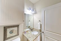Each bathroom is stocked with a complimentary starter supply of toiletries and bath amenities.