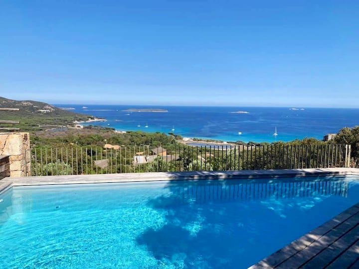 Villa Palombaggia, panorama vue mer époustouflant