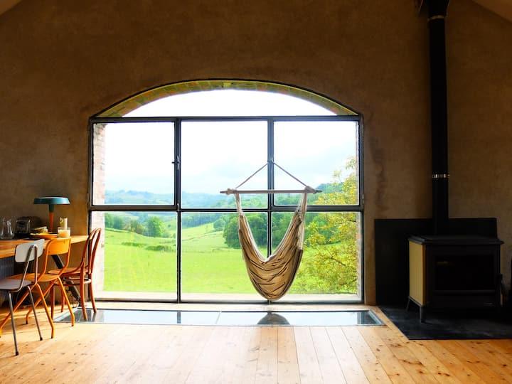 Grange amenagée loft avec une vue exceptionnelle