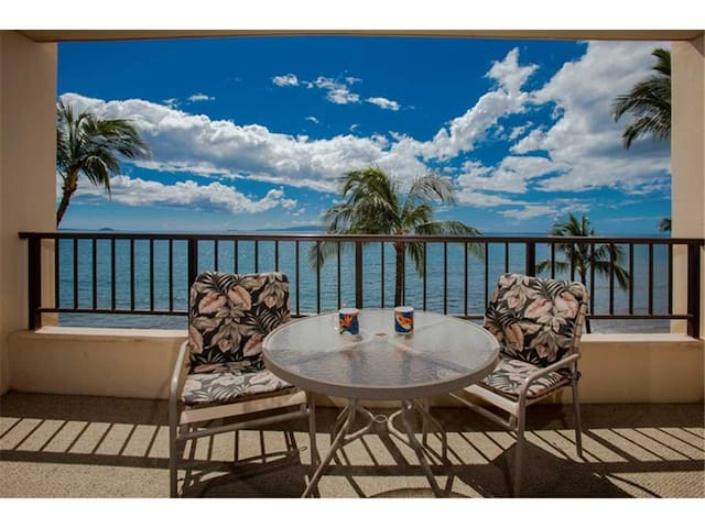 Pure Ocean front views from this 1bd condo at the Sugar Beach Resort #522