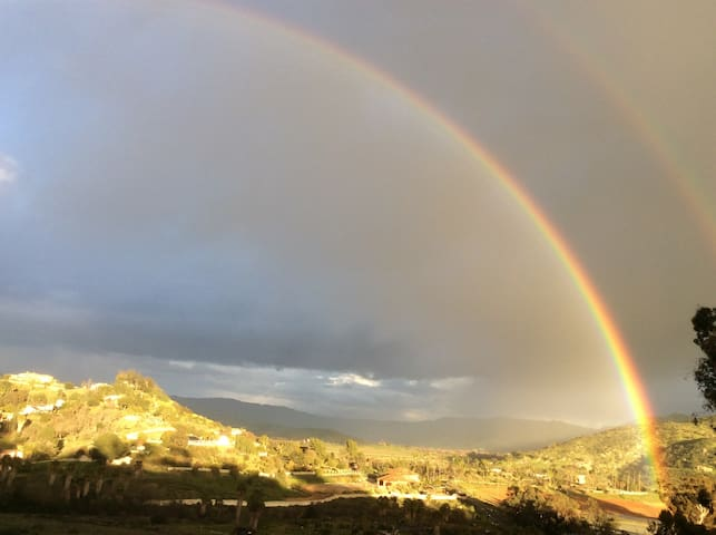 The path to the pot of gold in San Pasqual Valley as seen from our porch