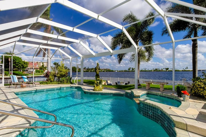 Dolphin Springs located  along the coastline of the Caloosahatchee river sits the 2,200 square foot single family home.