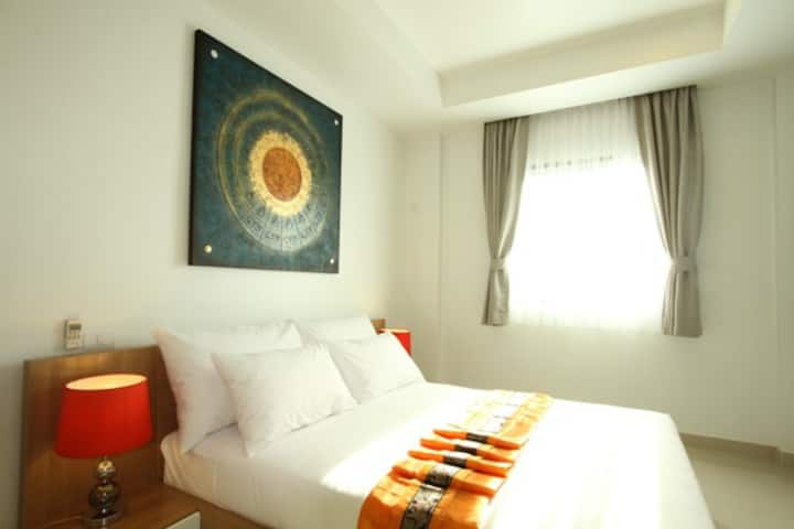 One bedroom with sofa bed close to Surin beach