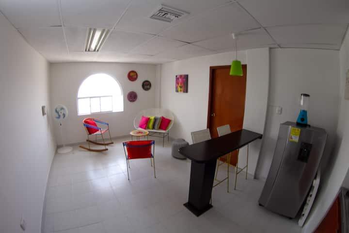 Moderno y Acogedor Loft con vista a la Bahia
