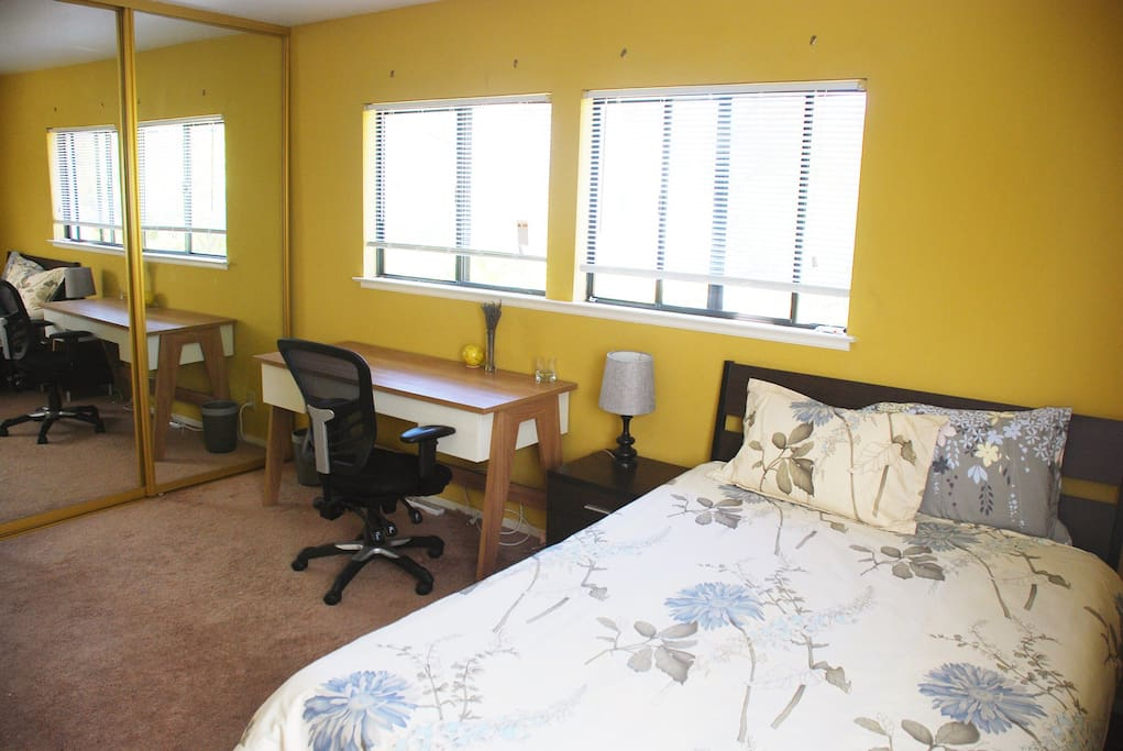 bright and spacious guest bedroom