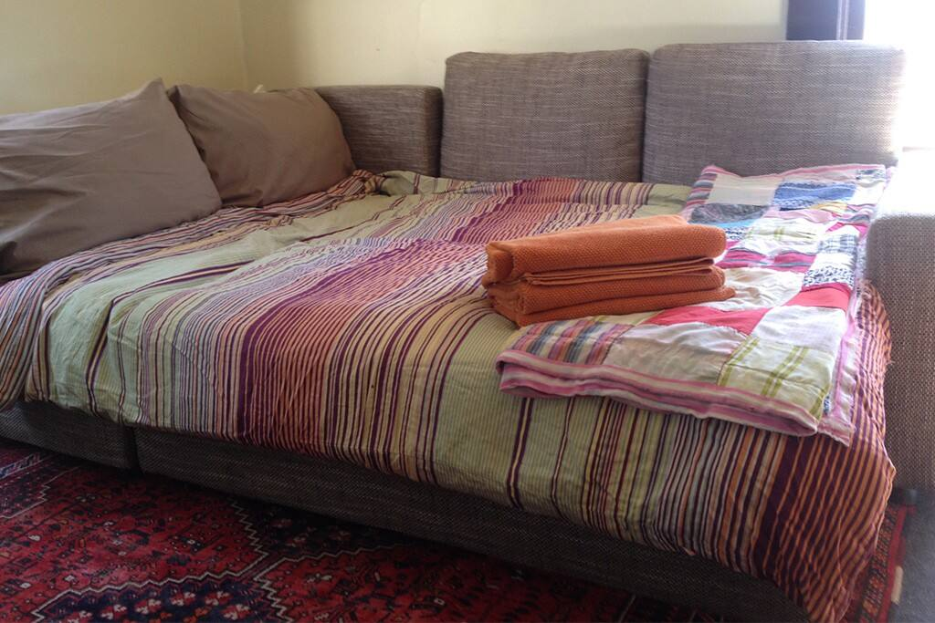 Sofabed with linens - sleeps two