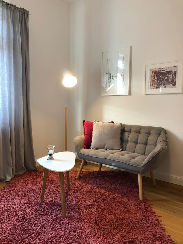 Helle, 1-Zimmer Wohnung in MA-Neckarau mit Balkon