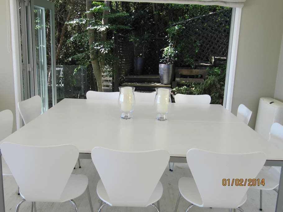 Indoor dining room table