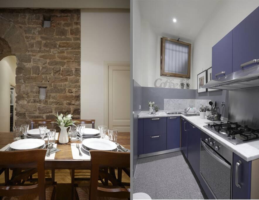 cucinotto e tavolo pranzo - Kitchenette and dining table