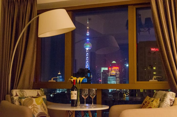 BUND Cityscape Dream SH Modern Apartment - Shanghai - Byt