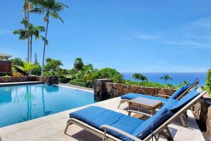 Ailina House, Panoramic Ocean View, Infinity Pool - Kailua-Kona - House