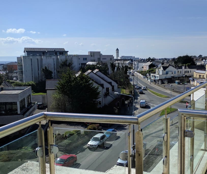 View to right over Salthill village