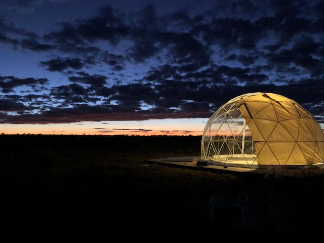 Stargazing/Sunset Dome Near GC With Winter Heater!