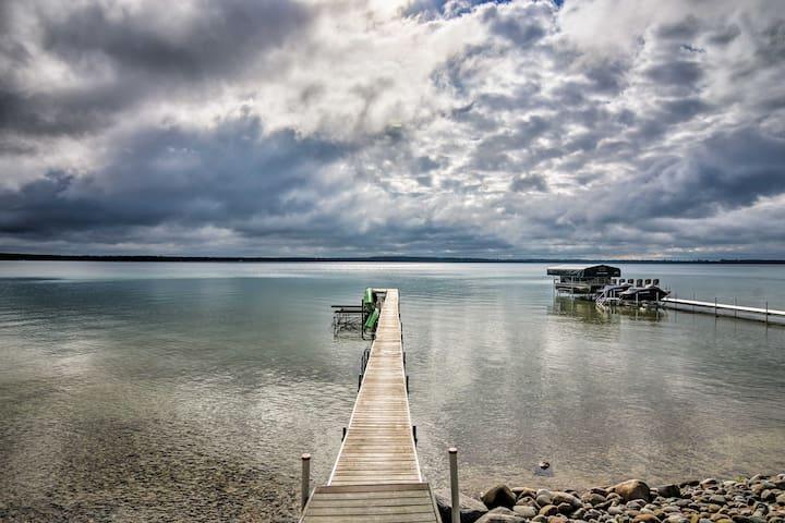 Higgins Lake Home w/ Dock, Fire Pit, & Deck!