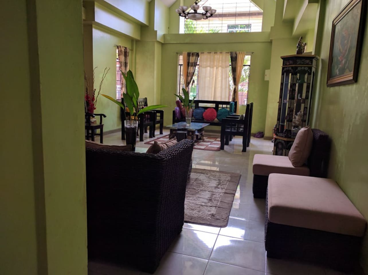 Our main living room, perfect place to chat with fiends and family.