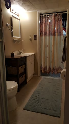 Bathroom with Privacy Curtain