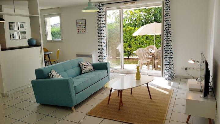 Superbe logement avec jardin privé proche Bordeaux