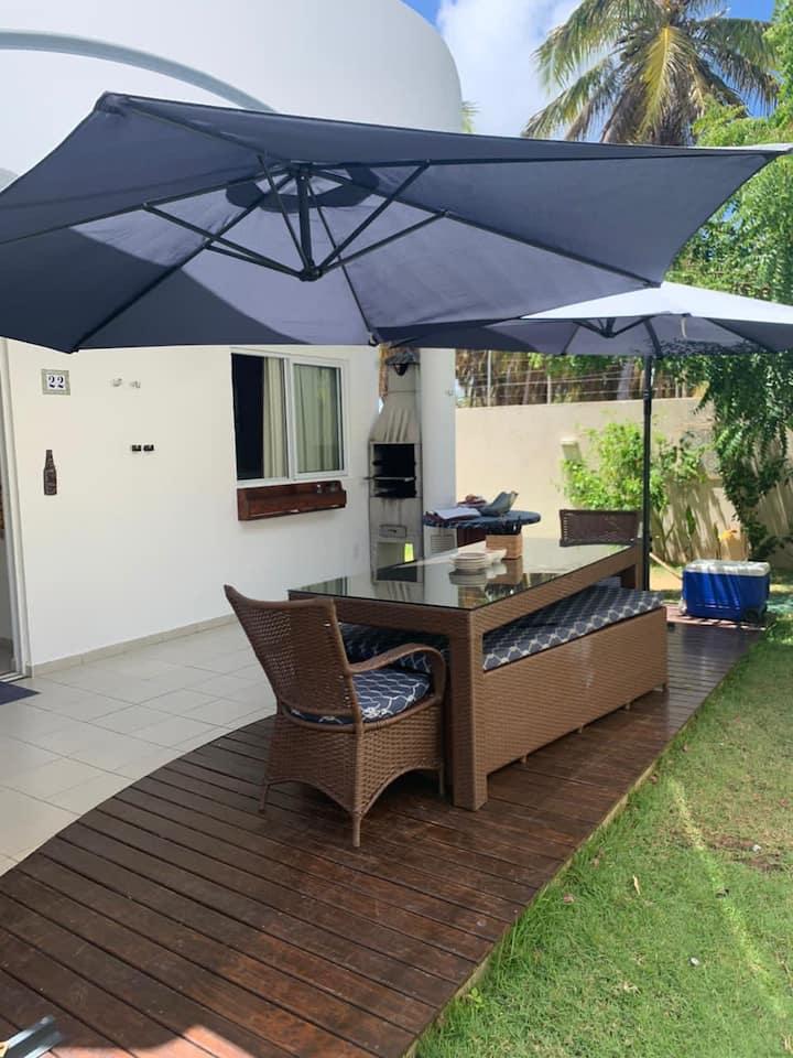 Casa condomínio Maracajaú 4.Beira mar com piscina.