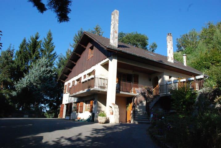 grande maison dauphinoise à étage au bord du lac - Montferrat - Hus