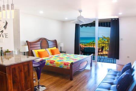 New Ocean Front Modern Condo Hip Strip Beach - Montego Bay