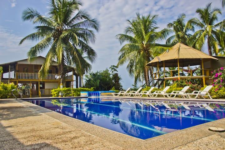 Habitación para 2 en Bahía Solano frente al mar