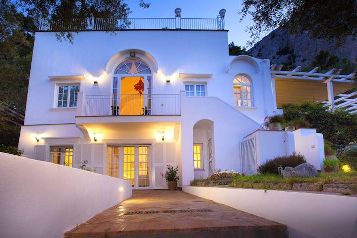 Villa Elena with Sea View, Jacuzzi, Garden and Terraces