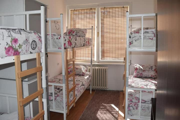 ➤Exit Labirint ➤Bed in 6-Bed Female Dormitory Room