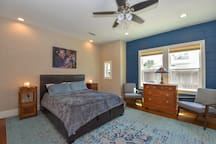 Beautiful master suite includes everything you need to make your stay as comfy as possible.