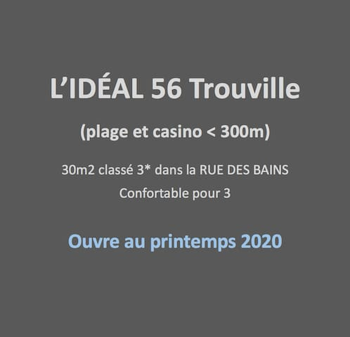 L'IDEAL 56 🔑Trouville (casino & plage < 300m)