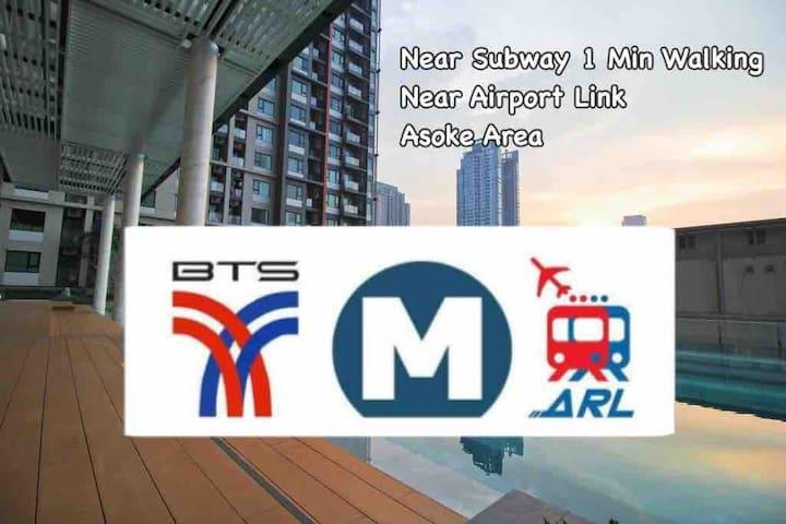 Near Airport link,Bangkok /편리한 위치 地點方便/1Min subway