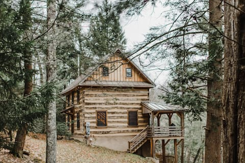 Log Cabin in the Endless Mountains