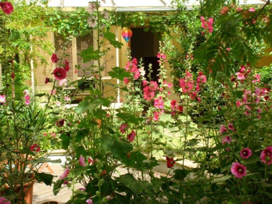 chambre typique croix rousse avec acc s jardin lofts louer lyon auvergne rh ne alpes france. Black Bedroom Furniture Sets. Home Design Ideas