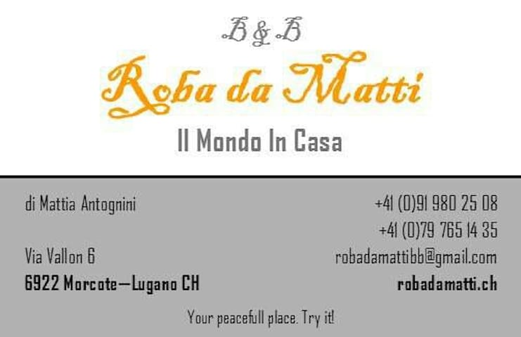 Roba da Matti b&b - Morcote - Bed & Breakfast