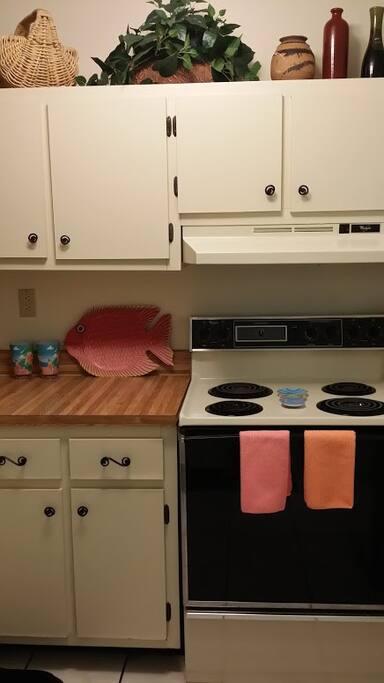Kitchen view from hallway.