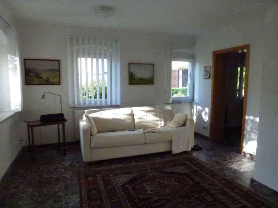 Gemälde, Teppich, Sofa, Sonne