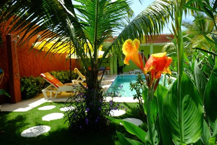 Adiana,  3 pièces en rez-de-jardin, piscine