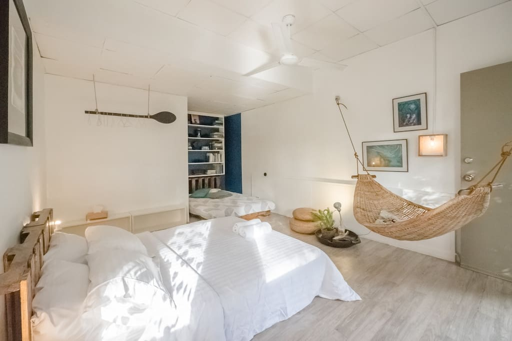 The Ocean Nest bedroom is good for four