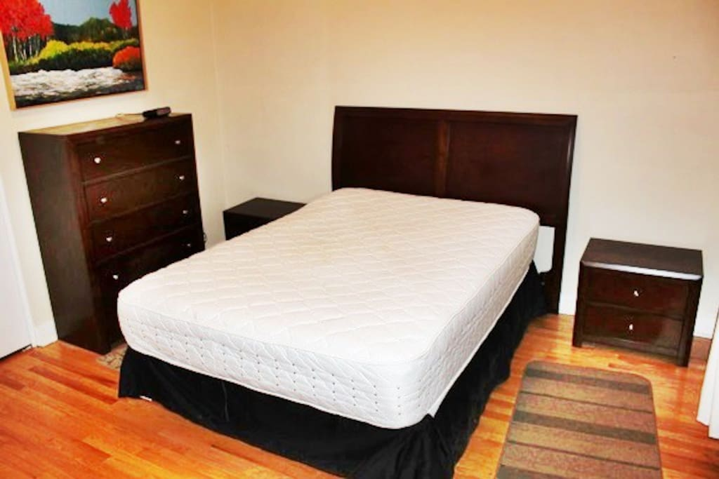 Big bedroom, quality furniture and mattresses