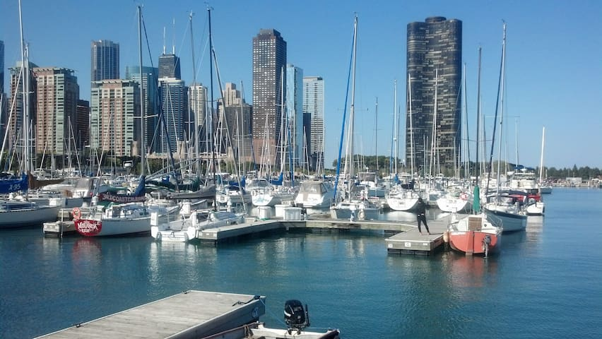 Lakeside Sailboat --on a dock! - Chicago - Barca