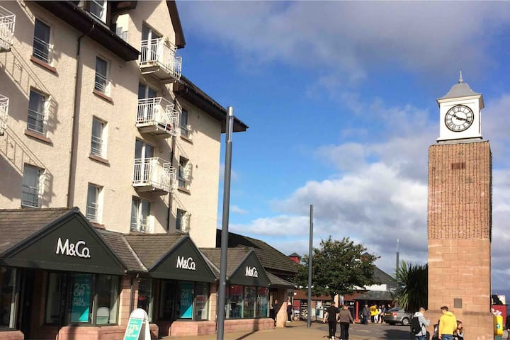 Oban Town Center Flat with Free Parking & Lift